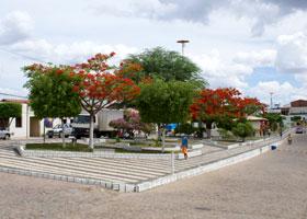Praça Honorato é a principal da cidade.