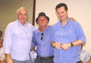 No lançamento do PSD na Bahia, lá estava Zé Filho ao lado de Otto presidente estadual e Gilberto Kassab, presidente nacional da legenda. Foto: arquivo Raimundo Mascarenhas