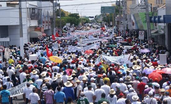 Manifestação da ASA em Juazeiro e Petrolina - foto-Raimundo Mascarenhas