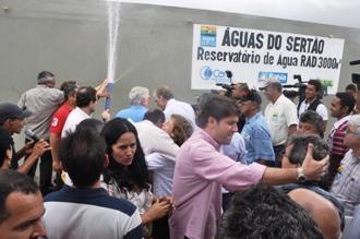 5 de maio de 2012 então governador Wagner inaugura Águas do Sertão em Cicero Dantas