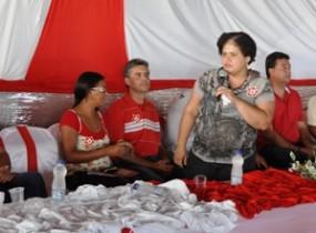 Elisângela candidata a deputada federal pelo PT não tem o apoio do partido, que fechou com o progressista Carleto.