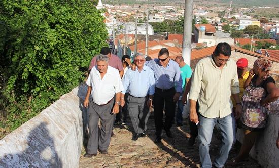 Jorge Andrade, vice João Batista sobem a serra - foto- Raimundo Mascarenhas