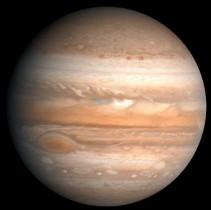 Júpiter aparece com a imagem semelhante a essa