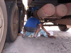 camionheiro morto no jorrinho