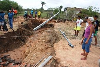 destruição pelas chuvas em Coité - 11