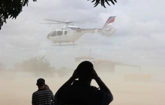 helicoptero de wagner levanta voo em Capim Grosso- foto- Raimundo Mascarenhas