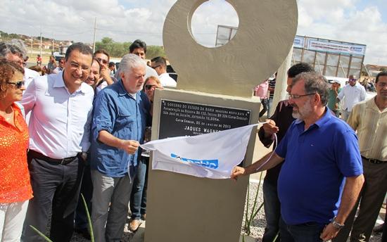 inauguração da BA 130.placa