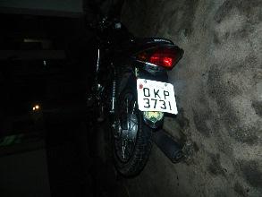 moto envolvida no acidente em ipirá