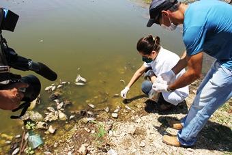 retirada de peixes do açude itarandi.juliana