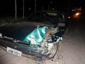 colisão na estrada da Pinda