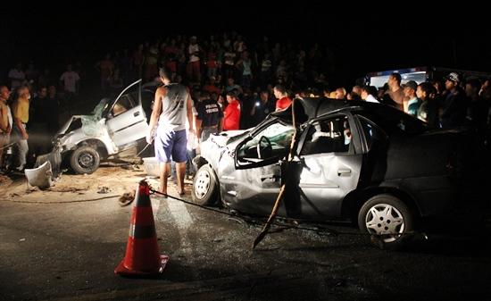 Este acidente em Valente com duas vítimas fatais e três feridas foi o mais grave.