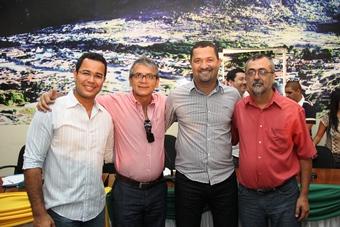 Da esq. para dir: Silva Neto, Ranulgo Gomes, Osni Cardoso e Ismael Ferreira