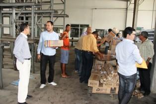 Os produtos foram retirados na Fabrica de Lacticínios da Catuí no Centro Industrial de Subaé