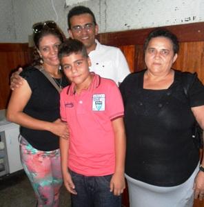 solange, esposo,filho e mãe