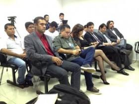 Divulgadores acompanharam julgamento (Foto: Rayssa Natani / G1)