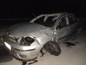 O Carro ficou completamente destruído