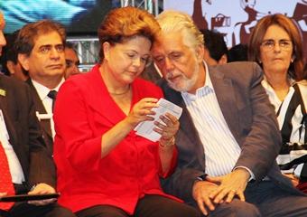 Dilma ao lado de Jaques Wagner - foto: arquivo Raimundo Mascarenhas