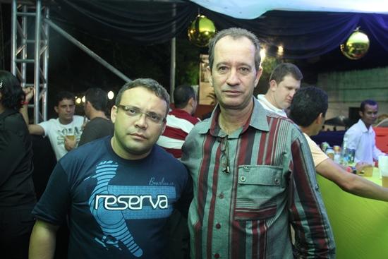 Joel Carlos gerente da Real Calçados de Conceição do Coité (E) e o diretor presidente Iraci José.