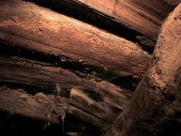 A foto mostra parte do que seria a estrutura da arca soterrada por material vulcânico há milhares de ano