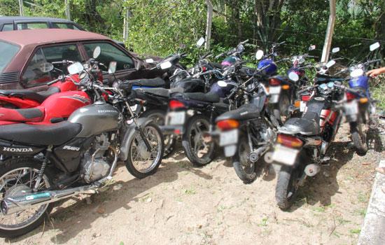 Motocicletas apreendidas recentemente poderão ser retiradas após a regularização junto ao DETRAN