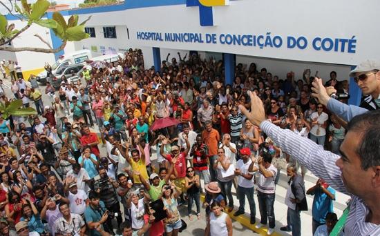 reinauguração do hospital municipal-des