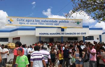 reinauguração do hospital municipal-faixa