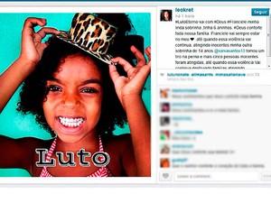Sobrinha de Léo Kret com seis anos foi morta em Salvador (Foto: Reprodução/ Instragram)