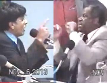 Danilo (E) e Nego Jai constantemente discutem  no plenário, Danilo na liderança do Governo (PT) e Jai líder da oposição