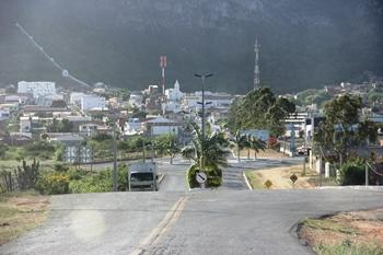 Visão da chegada  de Monte Santo para que chega por Euclides da Cunha