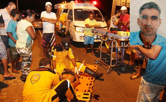 O DPT estava realizando o levantamento cadavérico de uma mulher vítima de acidente a 300 metros do local onde aconteceu o atropelo