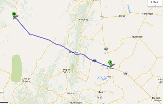 São 170 km de extensão e beneficiará vários municípios da micro-região de Jacobina