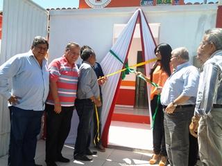 deputado federal Lúcio , Pedro Tavares, presidente estadual do PTC, Rivailton Velozo,prefeito de Abaré Benedito, o secretário municipal de Administração da cidade Delisio.