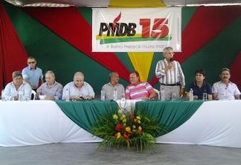 deputado federal Lúcio,Pedro Tavares, o presidente estadual do PTC, Rivailton Velozo,prefeito de Abaré Benedito, o secretário de Administração da cidade, Delísio e o prefeito de Casa Nova Wilson Cota.
