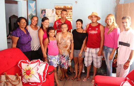Leandro (o mais alto) não tinha a minima noção de onde ficava Coité, nem tão pouco Povoado de Caruaru onde estão seus familiares paternos.