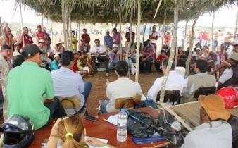 MST esteve reunido com o Juiz da Comarca, advogados e o proprietários da fazenda.