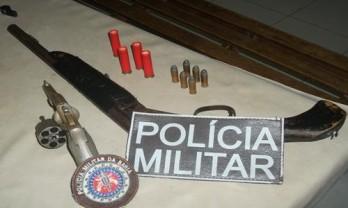 armas apreendidas em coité