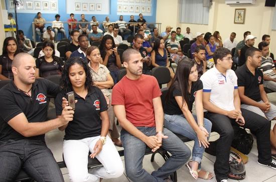 Atletas do Judô Coiteense marcaram presença da Câmara.