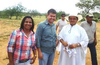 Vice prefeita Margareth, Alex da Piatã e padre Evanilson