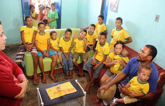 casal com 12 filhos homens em coité -des- foto- Raimundo Mascarenhas