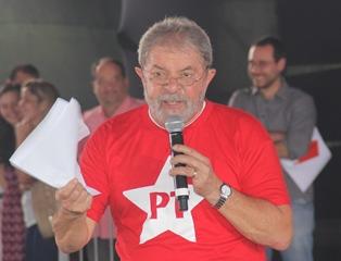 Lula voltou a criticar os meios de comunicação de massa do Brasil, segundo ele nada de bom que p PT faz é mostrado