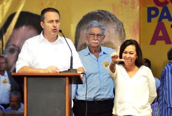 Eduardo Campo que será oficializado candidato e presidência e Marina Silva candidata a vice marcaram presença.