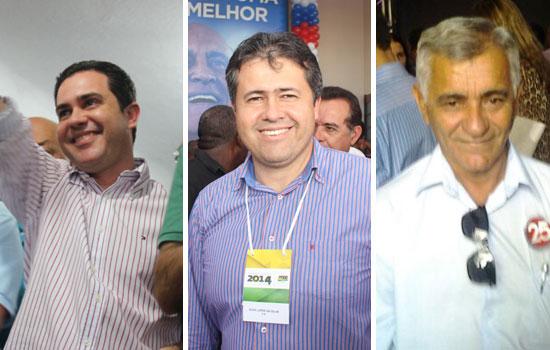 """Os três estão na mesma base, mas """"brigam"""" pelo voto como grandes rivais."""