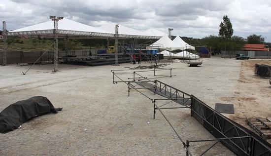 Vista do palco para a área do camarote.