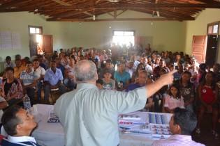 O encontro foi marcado por um grande número de pessoas