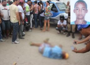 Vítima levou vários tiros na cabeça e no rosto.
