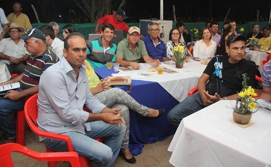 Autoridades presente no maior evento da agricultura do Município.