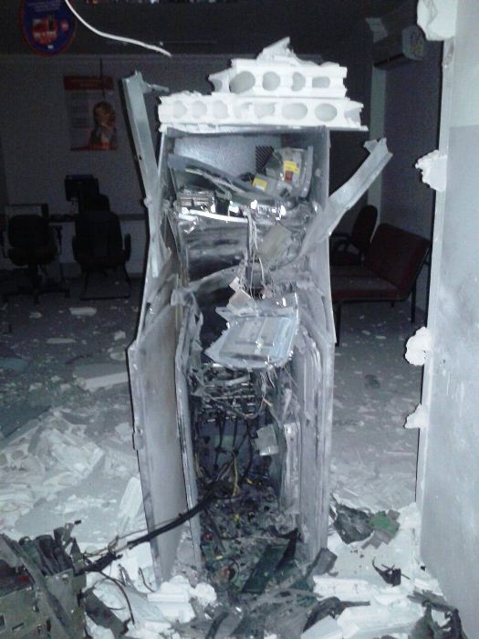 Situação do terminal depois da explosão