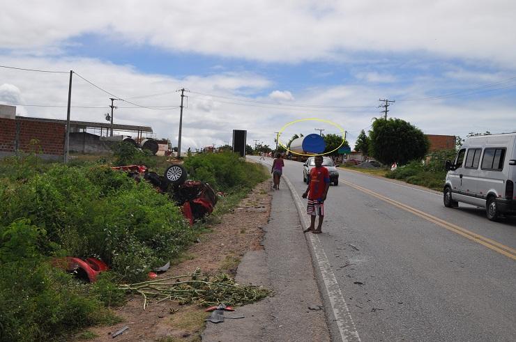Local do acidente fica no perímetro urbano da cidade.