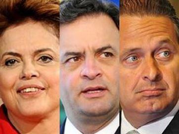 Dilma manteve os 38% da última pesquisa, enquanto Aécio e Campos cresceram 1%.
