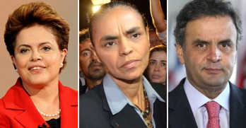 Como vem ocorrendo em todas as pesquisas, Dilma e Marina estariam empatadas no segundo turno.